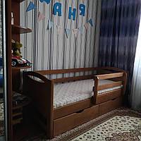 """Односпальная кровать """"Тахта"""" - Анимона в тонировке, массив ольхи"""