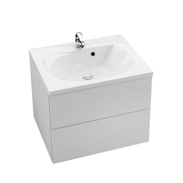 Шафка для ванної Rosa II 600 (білий/білий) Ravak