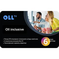 Подписка на OLL TV пакет «Oll inclusive» на 6 месяцев