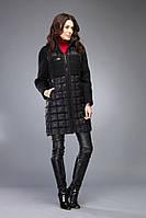 Пуховик женский зимний тёплый чёрный короткий на изософте и верблюжьей шерсти Marshal Wolf MO-84 (0084)