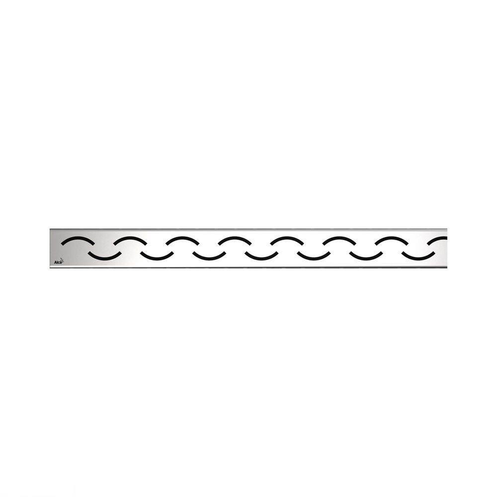 Решітка для водовідвідного жолоби (нержавіюча сталь матова) AlcaPlast SMILE-750M