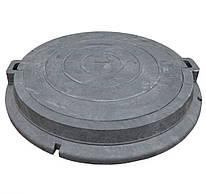 Люк дренажный круглый черный  (п\п). (8т) 780*86\630*45