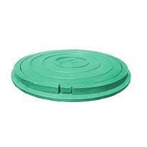 Люк сад. зеленый с замком (п\п).(1.5т) 730*50\630*25
