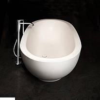 Ванна из искусственного камня PAA Dolce Ванна 1800x900, белая, silk stone, с сифоном