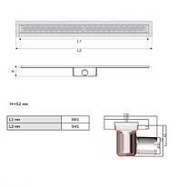 Канал ACO C-line 408717 945 мм