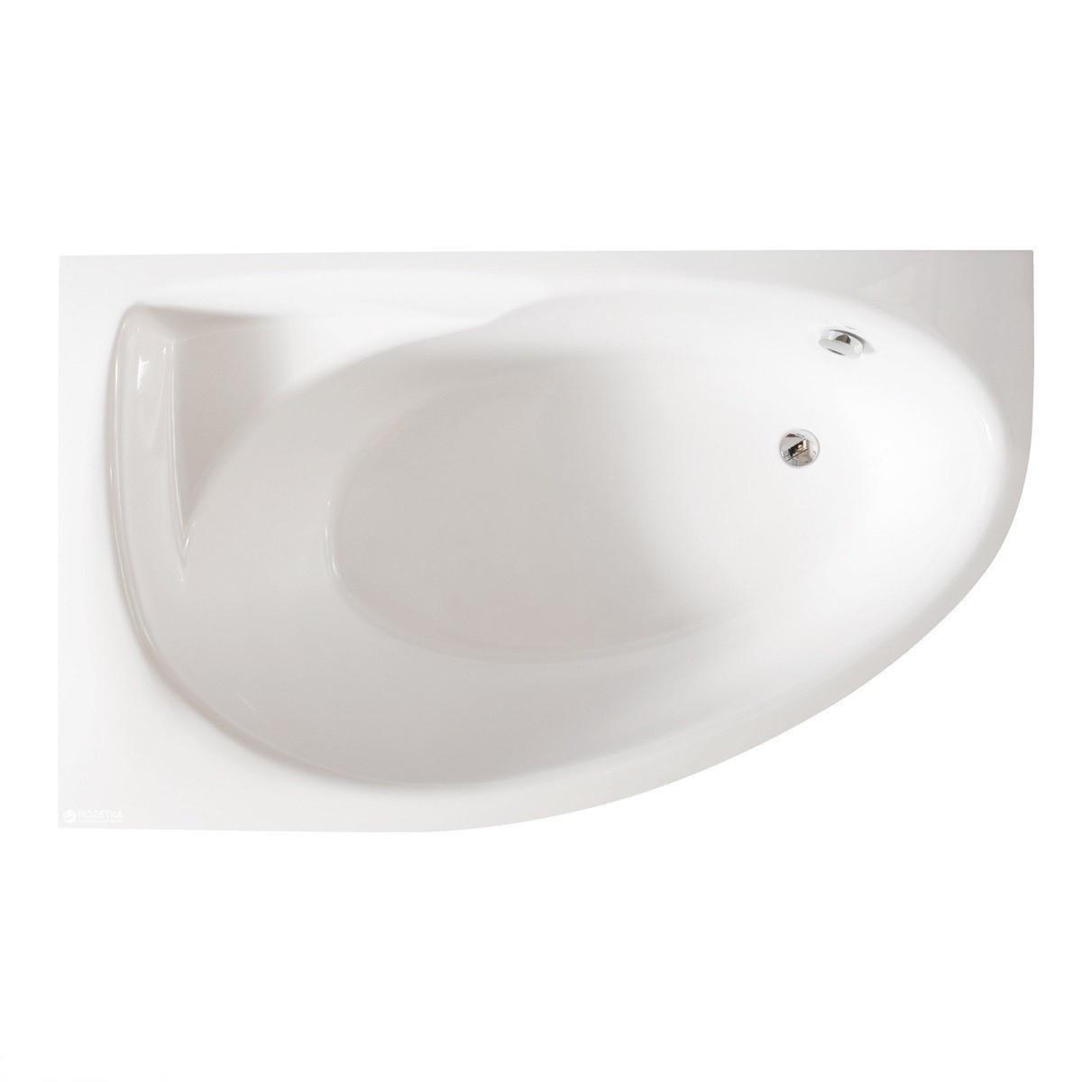 Ванна з штучного каменю PAA VATREGR/L/00+PATREGRM/00+SIFVUNOP TRE GRANDE Ванна 170х100 з панеллю, права, біла