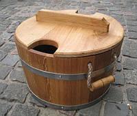 Запарник для веников, комплектующее для бани. Бондарные изделия