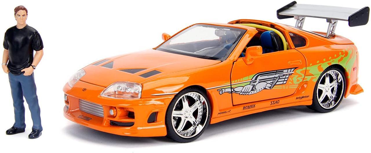 Машина металлическая Jada Форсаж Тойота Супра 1995 с Брайаном Jada 253205001