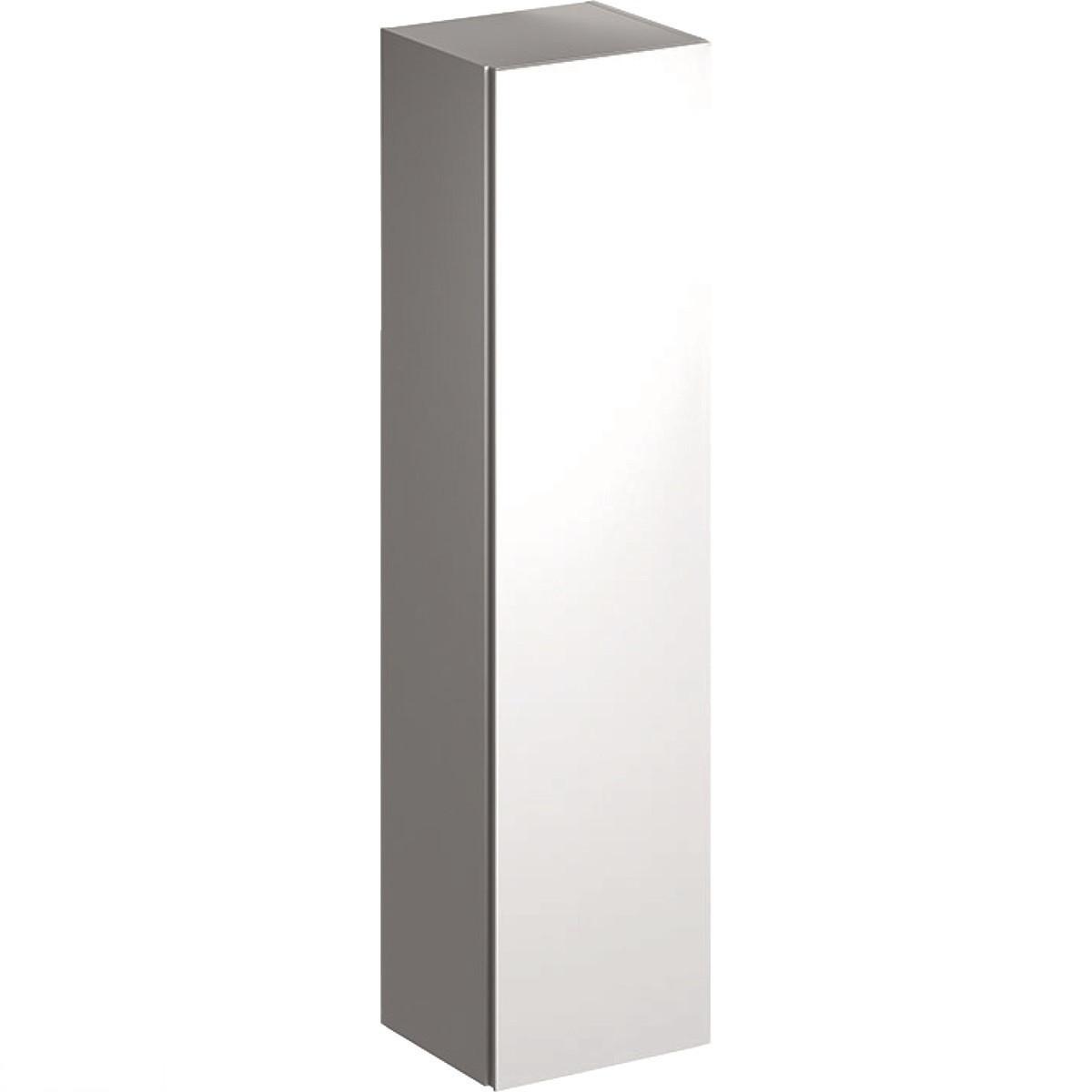 500.503.01.1 Geberit Xeno2 Високий шафа з одними дверцятами і внутрішнім дзеркалом: білий, глянсове покриття