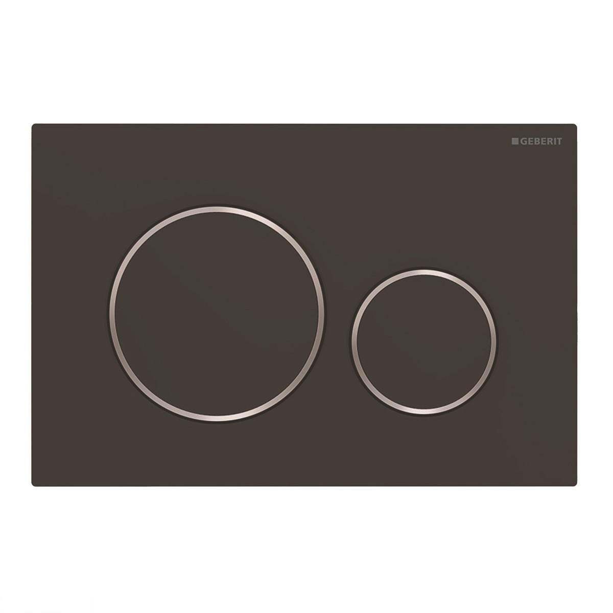 115.882.14.1 Смывная клавиша Geberit Sigma20, двойной смыв, черный мат/хром