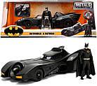 Машина металлическая Jada Бетмен 1989 Бетмобиль с фигуркой Бетмена Jada 253215002, фото 10