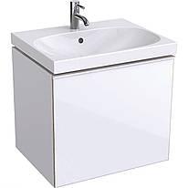500.609.01.2 Acanto Тумба под умывальник 60 см, с 1 выдв.ящиком и с 1 выдв.внутр.ящиком, корпус: лакированный ультраглянец / белый, фасад: белое