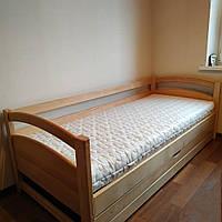 """Односпальная кровать """"Тахта"""" - Милана в лаке, массив ольхи"""