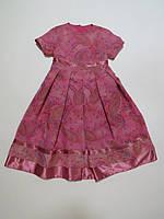 Летнее нарядное платье для девочек 116-122р
