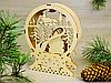 Красивый деревянный ночник «Рождественский домик Санта-Клауса» (2125), фото 3