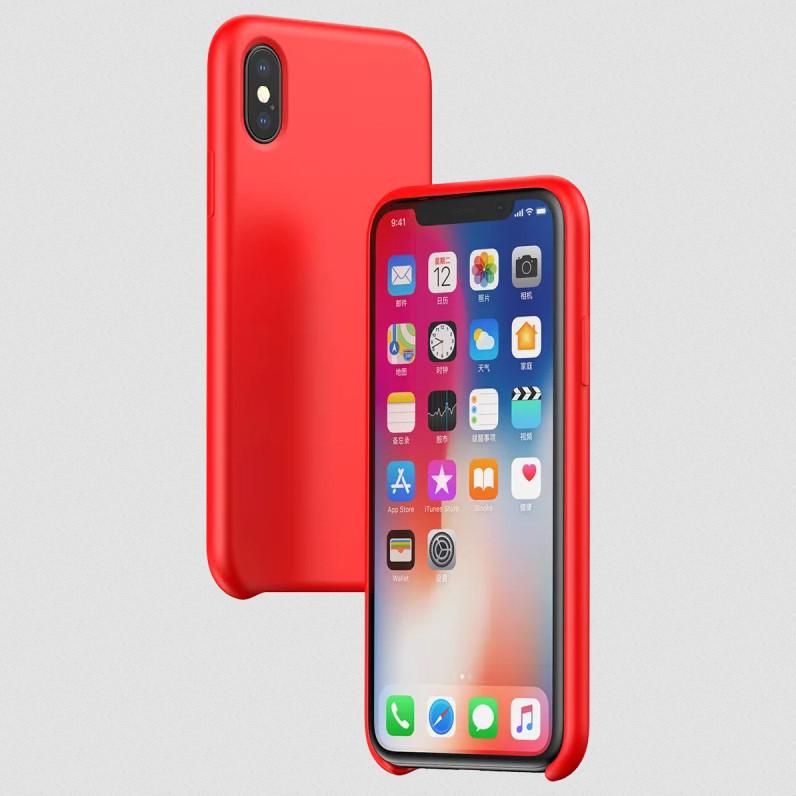 Силиконовый чехол Baseus Original LSR Case для Apple iPhone XS | красный | Baseus