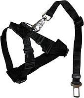 C5001291 Croci Harness Safety Belt Шлея безопасности в авто черная, 50-80 см
