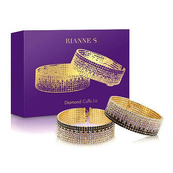 Лакшері наручники-браслети з кристалами Rianne S: Diamond Cuffs, подарункова упаковка