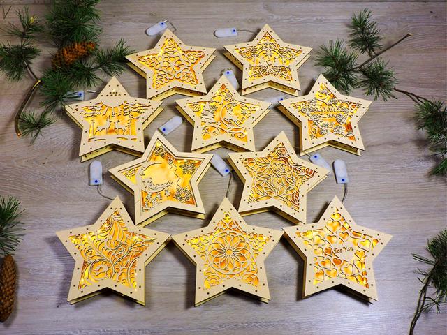 Новогодние ночники звезды