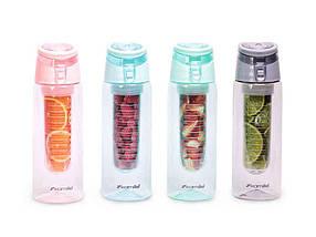 Спортивна пляшка для води 660ml із пластику (трітан) асорті 2303 ТМKAMILLE