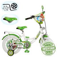 Велосипед Фиксики 12 дюймов детский двухколесный белые колеса