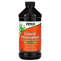 Рідкий хлорофіл з м'ятним смаком 473 мл, Now Foods