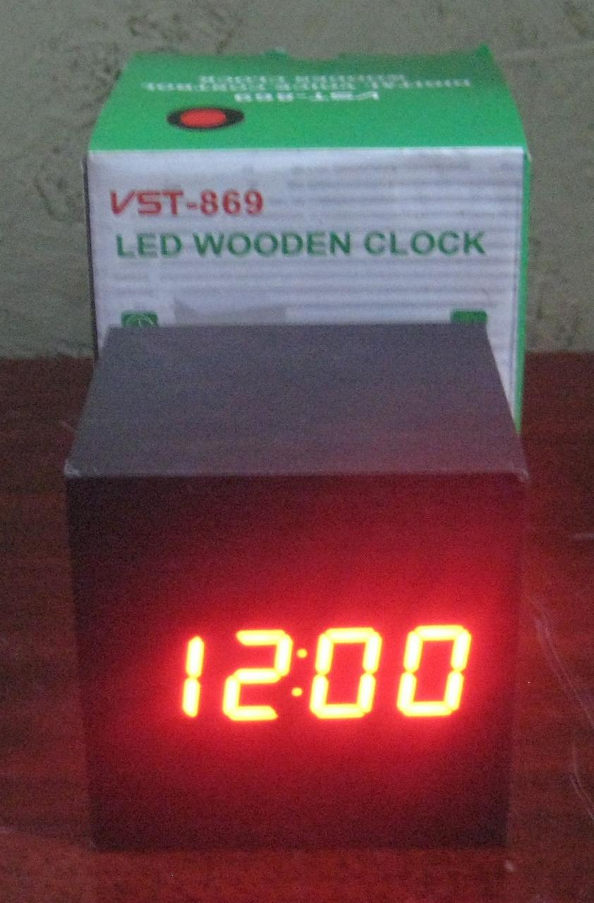Годинники електронні VST-869 (червона підсвітка, дата, температура)