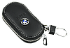 Ключница BMW, кожаная автоключница с логотипом  БМВ (черная 12003), фото 2