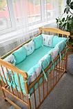 Подушки - бортики со съемными наволочками 12 шт 30х30см в кроватку (в расцветках), фото 4