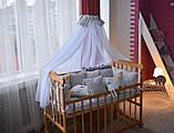Подушки - бортики со съемными наволочками 12 шт 30х30см в кроватку (в расцветках), фото 8