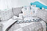 Подушки - бортики со съемными наволочками 12 шт 30х30см в кроватку (в расцветках), фото 9