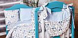 Детское постельное белье из сатина в детскую  кроватку с защитой и карманом, фото 3