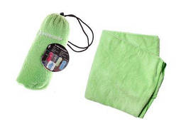 Полотенце спортивное Dunlop Sport towel зеленое