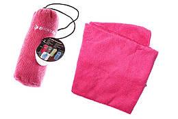 Полотенце спортивное Dunlop  Sport towel розовое