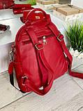 Женский рюкзак с широким ремешком Cosmo красный РФК75, фото 2