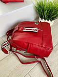 Женский рюкзак с широким ремешком Cosmo красный РФК75, фото 5
