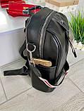 Женский рюкзак с широким ремешком Cosmo красный РФК75, фото 10
