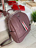 Женский рюкзак с широким ремешком Cosmo сиреневый РФК76, фото 3