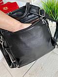 Женский рюкзак с широким ремешком Cosmo сиреневый РФК76, фото 10
