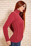 Гольф женский 117R023 цвет Темно-розовый, фото 3