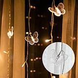Ночник в детскую комнату сердцу из бабочек 3х2 м Золотой, фото 3