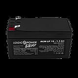 Аккумулятор AGM LP 12V - 1.3 Ah Silver, фото 2