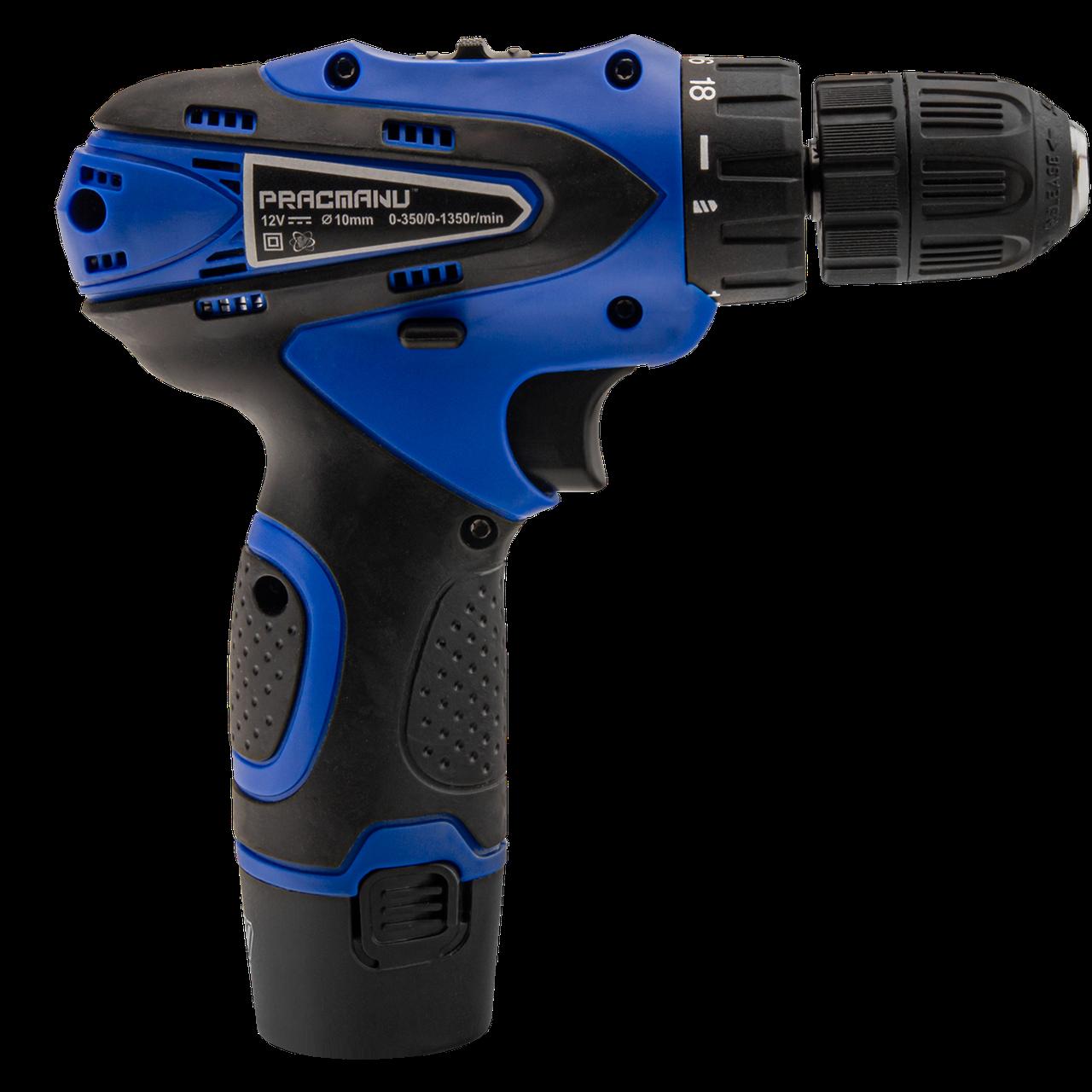 Аккумуляторный шуруповерт Pracmanu (синий)