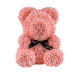 Мишка из 3D роз 40 см коралловый, фото 2