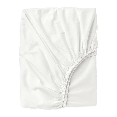 ИКЕА (IKEA) ULLVIDE, 103.427.67, Простыня натяжная, белый, 140x200 см - ТОП ПРОДАЖ