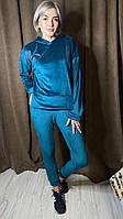 Спортивный костюм на меху модель 4112 Черный ✨ Изумруд ✨ Кемэл ✨ Бордо 42,44,46, 48,50, 5 штук в ростовке, фото 1