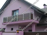 Стеклянные ограждения (перила из стекла) балконов, террас, лестниц