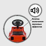 Машина-Толокар с ручкой 809 CR-13500 JOY (4) цвет КРАСНЫЙ, РУССКОЕ ОЗВУЧИВАНИЕ, СВЕТОВЫЕ ЭФФЕКТЫ, съемный, фото 3