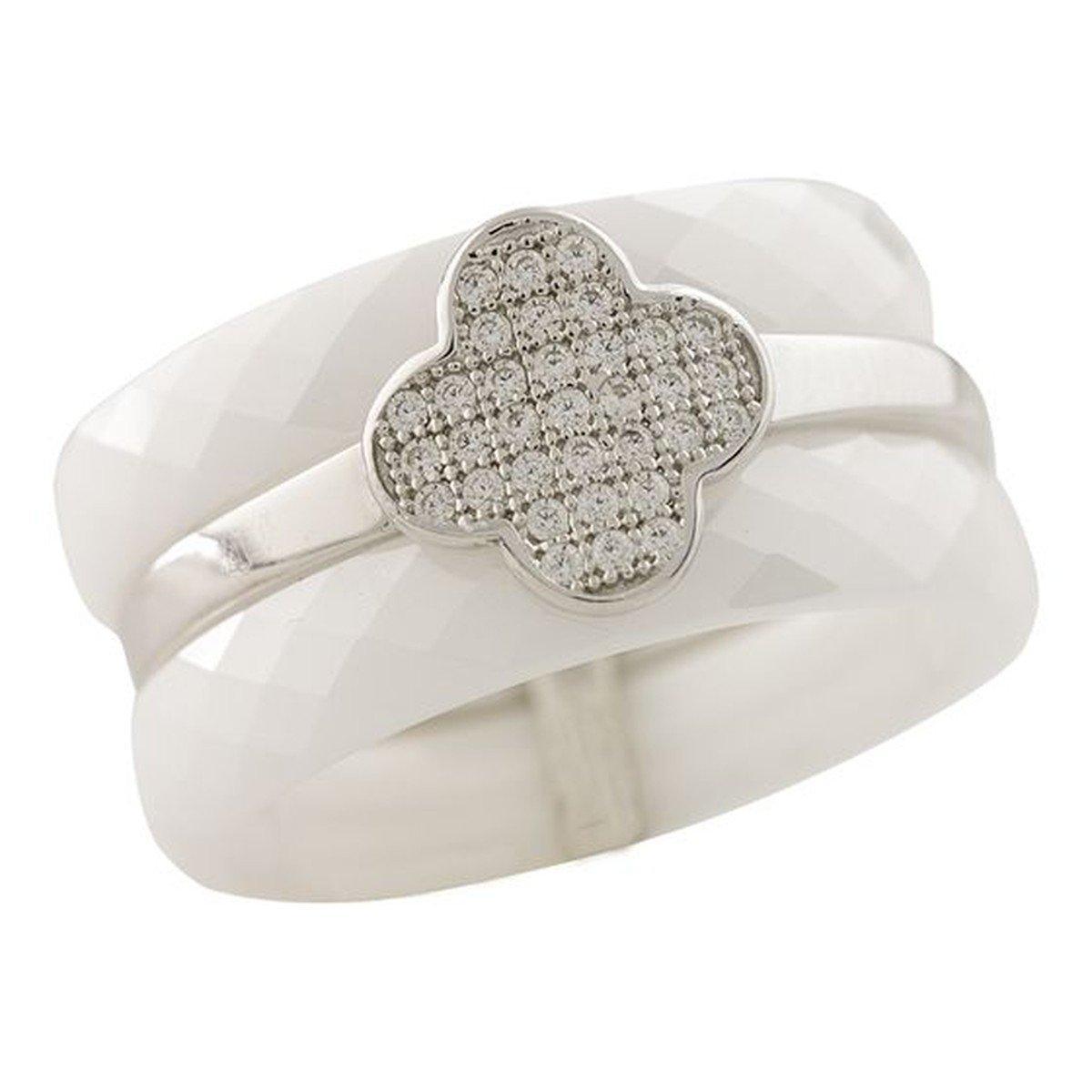 Срібне кільце DreamJewelry с , керамікою (1223741) 19 розмір