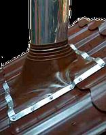 Мастер Флеш для  дымохода 520х520мм,420х420мм до 315 гр.С, коричневый
